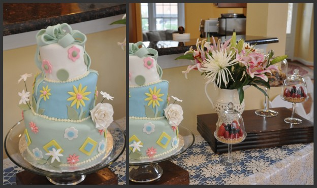 baby shower cake table