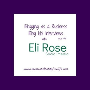 Blog Idol Interviews: Blogging as a Business {Eli Rose Social Media}