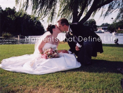Wedding - Kissing in the Grass watermarked