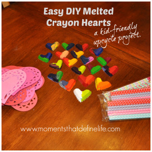 Upcycle Your Crayons:  Crayon Hearts
